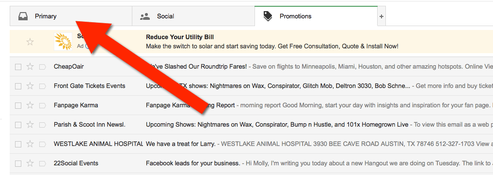 Email Whitelisting Gmail